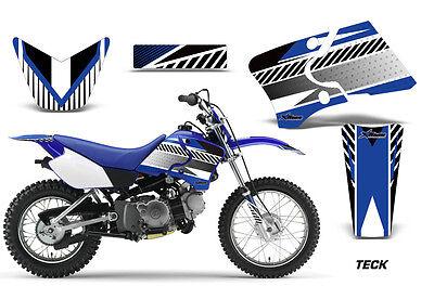 Dirt Bike Graphics Kit Decal Wrap For Yamaha TTR90 TTR90E 2000-2007 TECK BLUE