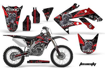 Dirt Bike Graphics Kit Decal Sticker Wrap For Honda CRF250R 2004-2009 TOXIC R K