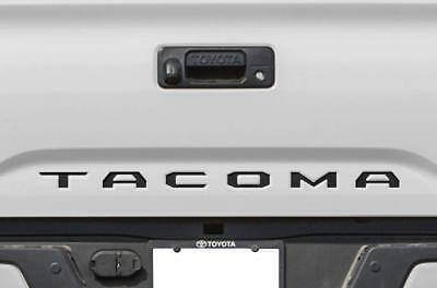 BLACK Tailgate Insert Letters Decal Vinyl Stickers for Toyota Tacoma 2016-2020](Sports Stickers)
