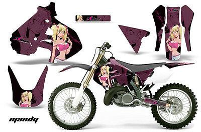 Dirt Bike Graphics Kit Decal Sticker Wrap For Suzuki RM250 1999-2000 MANDY P K