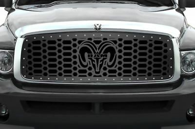 Custom Grille for 2002-2005 Dodge Ram Trucks 1500/2500/3500 Steel Grill RAM HEAD