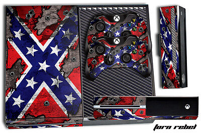 Used, Designer Skin for XBOX ONE 1 Gaming Console +2 Controller Sticker Decals DEEP US for sale  Shipping to India