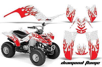 ATV Graphics Kit Quad Decal Sticker Wrap For Yamaha Raptor 80 02-08 DFLAME R W