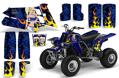 Yamaha Banshee 350 graphics full coverage decal kit #9500 Red Zombie