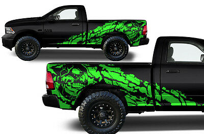 Vinyl Decal Nightmare Wrap Kit for Dodge Ram 09-18 1500/2500/3500 6.5 BED Green