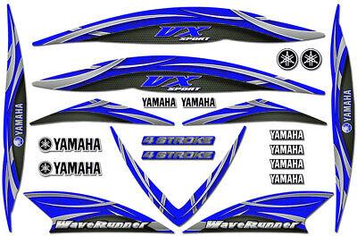 Decal Kit for 05-09 Yamaha VX110 Jetski Graphic Waverunner VX 1100 Sport BLUE