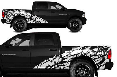 Vinyl Decal NIGHTMARE Wrap Kit for Dodge Ram 2009-2018 1500/2500 5.7 BED WHITE