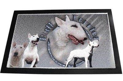 Designer Fußmatte Englischer Bullterrier 2 Bull Terrier Hundeteppich Fussmatte