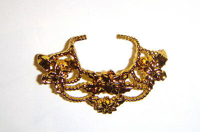 Barbie Doll Sized Jewelry Golden Necklace For Barbie Dolls jr85