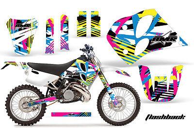 Dirt Bike Decal Graphic Kit Sticker Wrap For KTM SX/XC/EXC/LC2 1993-1997 FLSHBCK