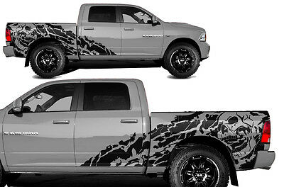 Vinyl Decal NIGHTMARE Wrap Kit for Dodge Ram 2009-2018 1500/2500 5.7 BED BLACK