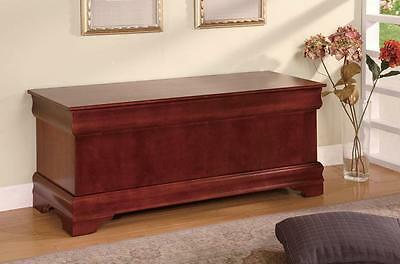 Louis Philippe Style Cedar Chest in a Cherry Finish by Coaster (Cherry Finish Cedar Chest)