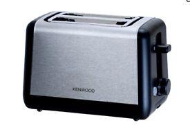 Chrome brush and Black finish, Kenwood Toaster