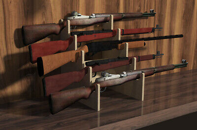 Wood Gun Rack Rifle//Shotgun Fireplace//Table Top//Gun Show Display Presentation