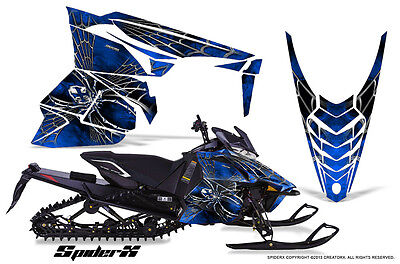 YAMAHA VIPER 2014-2016 SNOWMOBILE SLED WRAP GRAPHICS KIT CREATORX SXBL