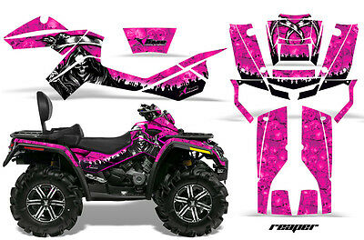 ATV Graphics Kit Decal Wrap For CanAm Outlander Max 500/800 2006-2012 REAPER PNK