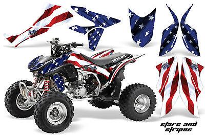 (ATV Graphics Kit Quad Decal Sticker Wrap For Honda TRX450R TRX450ER USA FLAG)