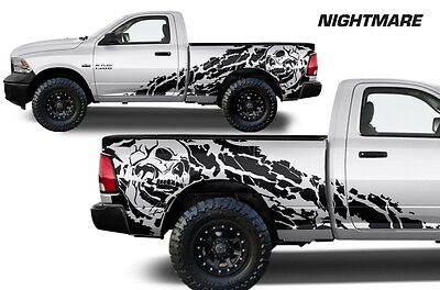 Vinyl Decal Nightmare Wrap Kit for Dodge Ram 09-18 1500/2500/3500 6.5 BED Black