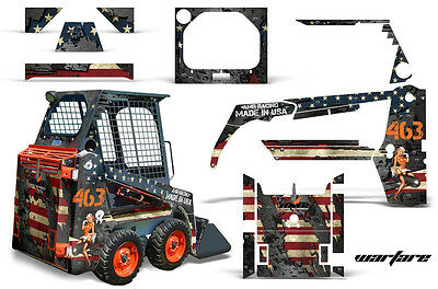 Amr Racing Bobcat Skidsteer Graphic Kit Mini Loader Decal Skid Steer Part Warfar