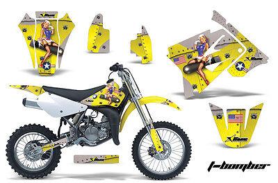 Dirt Bike Graphics Kit Decal Sticker Wrap For Suzuki RM85 2002-2016 TBOMBER YLLW