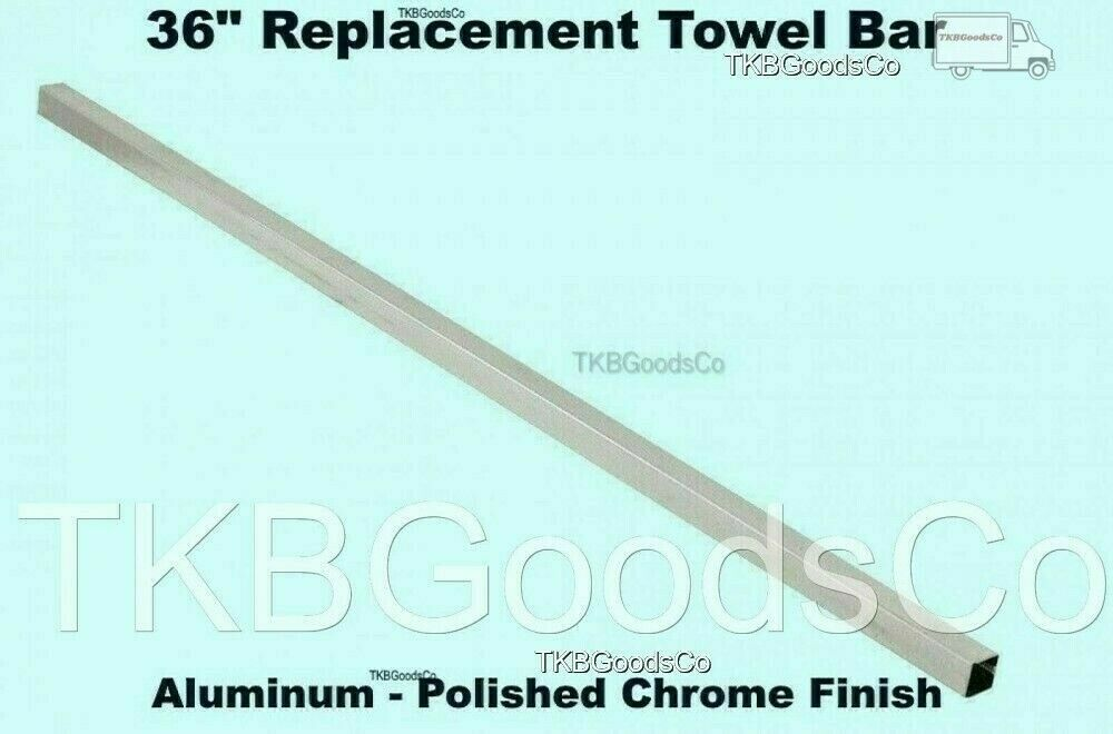 """36"""" REPLACEMENT TOWEL BAR Polished Chrome Finish Square Fits"""