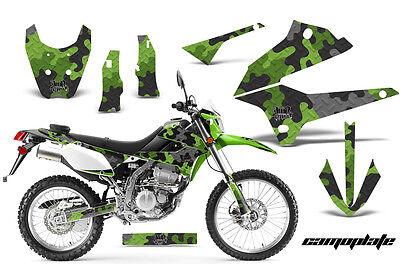 Dirt Bike Decals Graphics Kit Sticker Wrap For Kawasaki KLX250 2008-2018 CAMO G