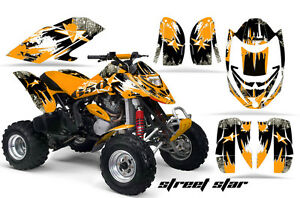 ATV Graphics Kit Decal Quad Wrap For Can-Am Bombardier DS650 DS 650 STSTAR ORNG