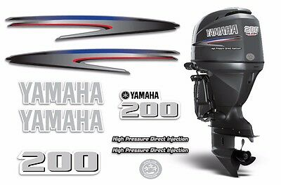 Yamaha 200 HPDI Sticker Decals Outboard Engine Graphic 200hp Sticker USA MADE