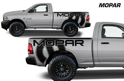 Vinyl Decal MOPAR Wrap Kit for Dodge Ram 2009-2018 1500/2500/3500 6.5 BED Black
