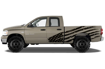 Custom Vinyl Decal PATRIOT Wrap Kit for Dodge Ram 1500/2500 Truck 2002-08 BLACK