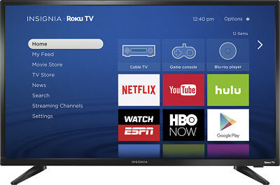 "Insignia- 32"" Class (31.5"" Diag.) - LED - 720p - Smart - Roku TV"