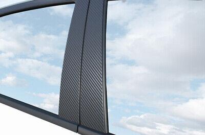 Für viele Fahrzeuge 6x PREMIUM A B C Säule Tür Leisten Auto Folie Carbon Schwarz