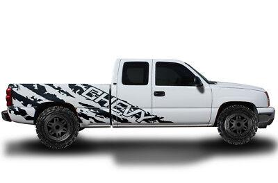 Vinyl Decal Wrap Kit for 1999-2007 Chevrolet Silverado Truck CHEVY SHREDS BLACK