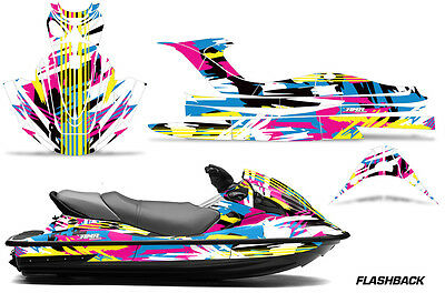 Jet Ski Graphics Kit PWC Decal Wrap For Kawasaki STX15F 2003-2018 FLASHBACK