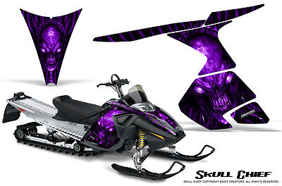 SKI-DOO RT MACH Z MX Z 05-09 SNOWMOBILE CREATORX GRAPHICS KIT SKULL CHIEF PR