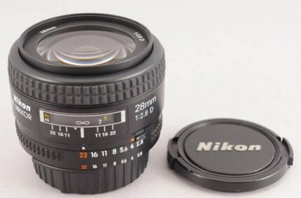 Nikon AF Nikkor 28mm f2.8D - FX - Full Frame Lens Marrickville Marrickville Area Preview