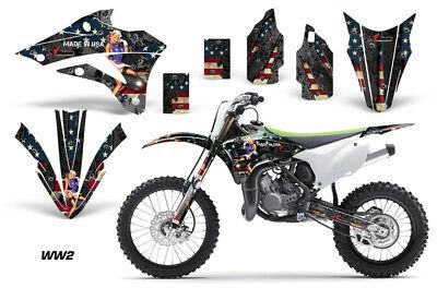 Dirt Bike Decal Graphics Kit Sticker Wrap For Kawasaki KX85 KX100 14-18 WW2 BOMB