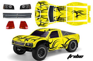 AMR Losi SCTE Ten RC Graphic Decal Kit 1/10 4WD Short Course Truck Body TRIBE YW
