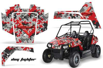 UTV Graphics Kit Decal Sticker Wrap For Polaris RZR 170 EFI 2009-2018 DOG RED (170 Polaris Graphic Kits)