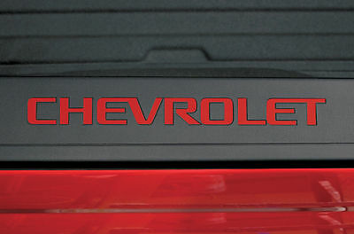 Vinyl Decal Bed Side Logo Wrap Kit fits 2014-2017 Chevy Silverado 1500/2500 Red