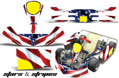 Racing Flags For Kids (Go Kart Racing Graphics Kit Decal Sticker Wrap For KG Kid Baby Krypton USA)