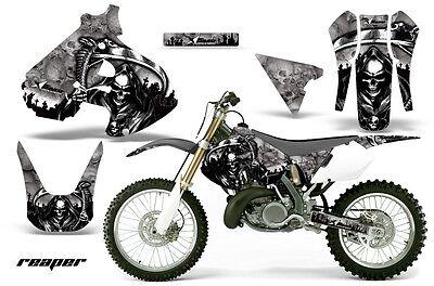 Dirt Bike Graphics Kit Decal Sticker Wrap For Suzuki RM250 1999-2000 REAPER SLVR
