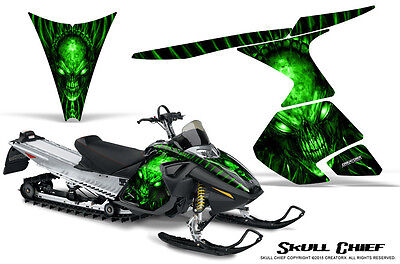 SKI-DOO RT MACH Z MX Z 05-09 SNOWMOBILE CREATORX GRAPHICS KIT SKULL CHIEF G