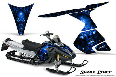 SKI-DOO RT MACH Z MX Z 05-09 SNOWMOBILE CREATORX GRAPHICS KIT SKULL CHIEF BL