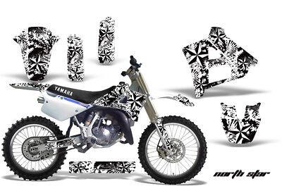 Dirt Bike Graphics Kit Decal Sticker Wrap For Yamaha YZ125 YZ250 91-92 NSTAR WHT