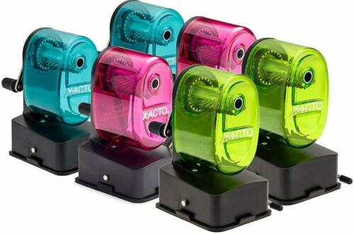 X-Acto Bulldog Vacuum Mount Manual Pencil Sharpener, Assorted Colors