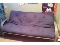 Metal frame sofa bed / futon