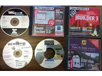 Joblot Assorted Retro CD Software AA Pub Guide, Route Tracker etc.