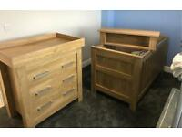 Babystyle Bordeaux Cotbed and Dresser