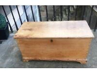 Sturdy Old Pine Chest with secret compartment (Reduced Price)